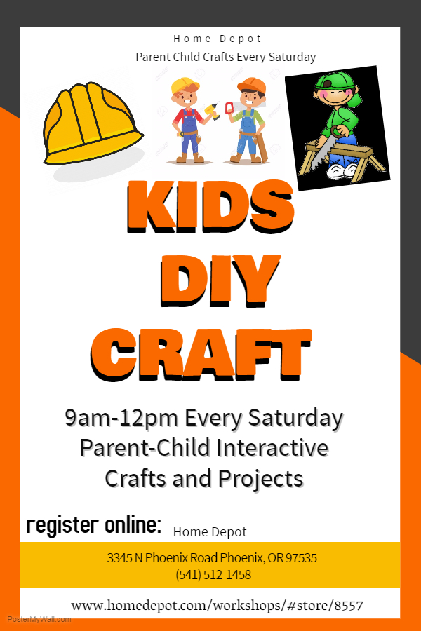 Kids Diy Craft Home Depot Phoenix The Family Connection