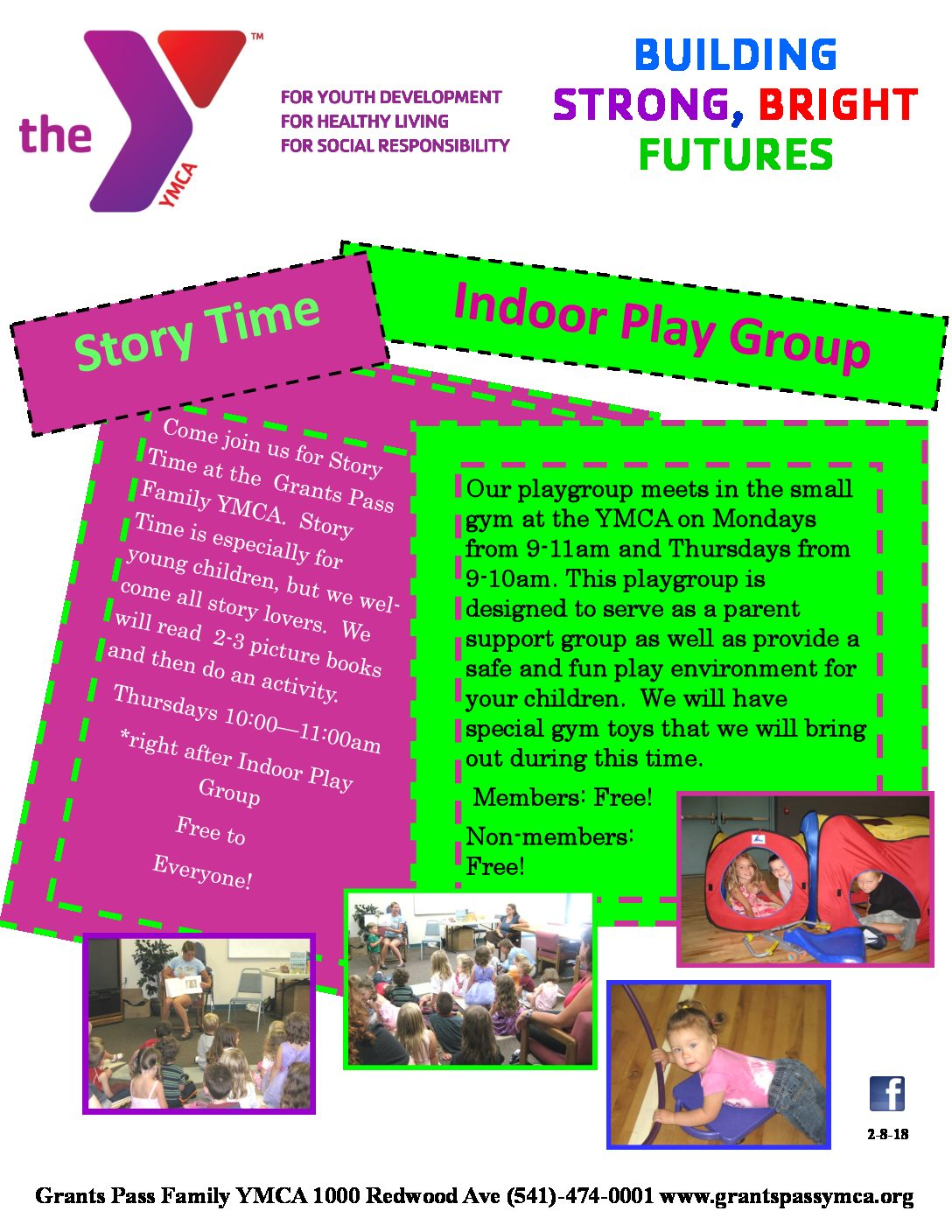 story time play group grants pass